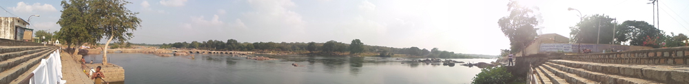 A panaromic view of the river