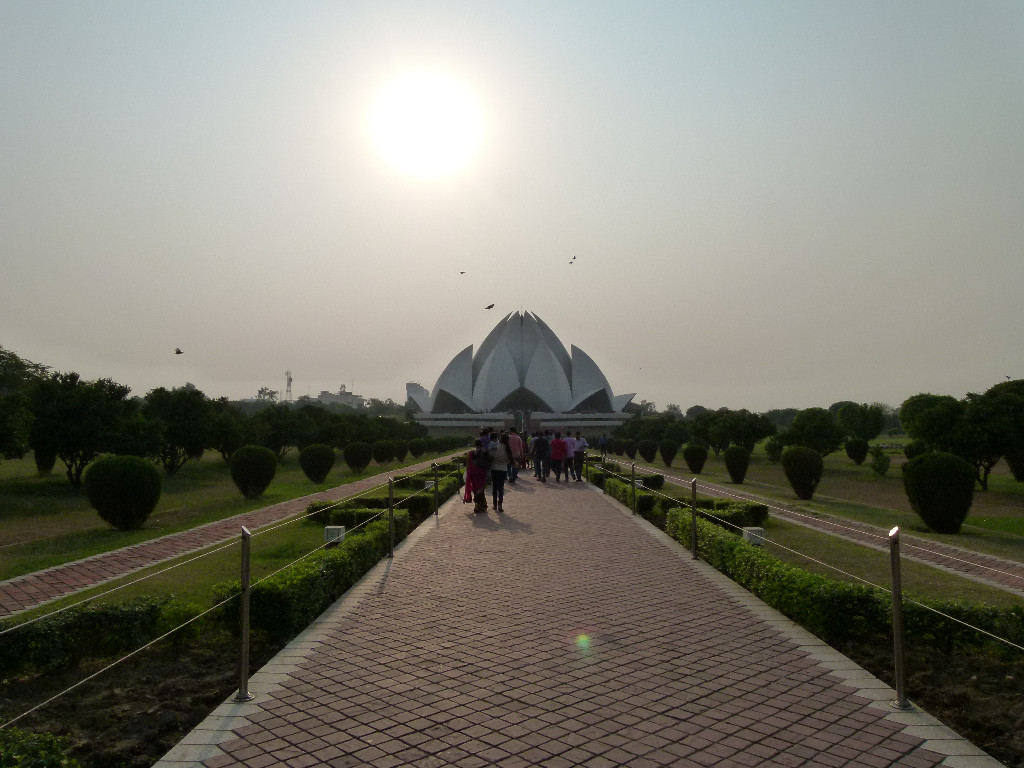 The Bahai Temple (The Lotus Temple).